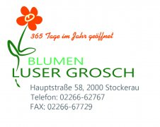 Logo Flower Decoration Blumenhandlung Luser Grosch